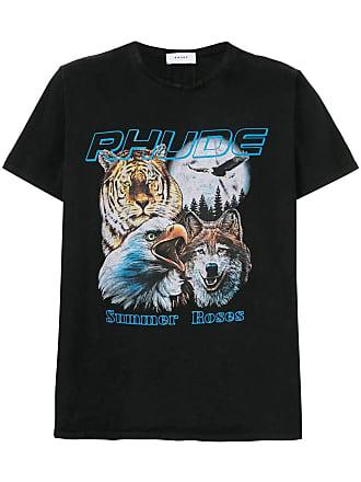Rhude Camiseta Animal - Preto
