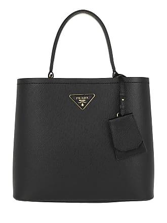 ce5e27e685e0f Prada Double Saffiano Leather Bag Nero Fuoco Tote schwarz