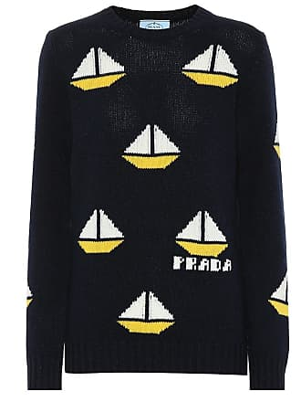 Prada Wool and cashmere intarsia sweater