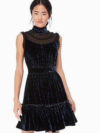 82e14943f30e3d Kate Spade New York Leopard-print Velvet Lace Dress, Light Adriatic Blue -  Size