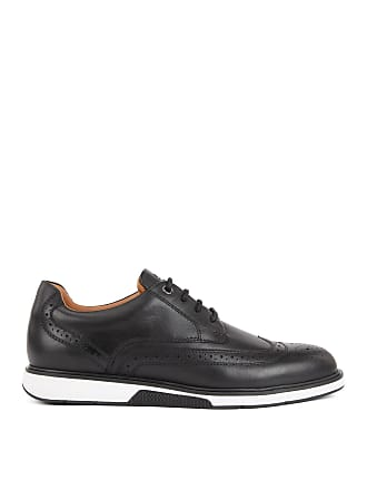 BOSS Leather Derby shoes with sneaker-style sole