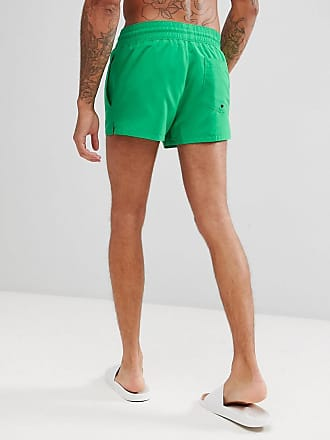 e6b67388b0 Asos Swim Shorts In Green With Black   White Drawcords Super Short Length -  Green