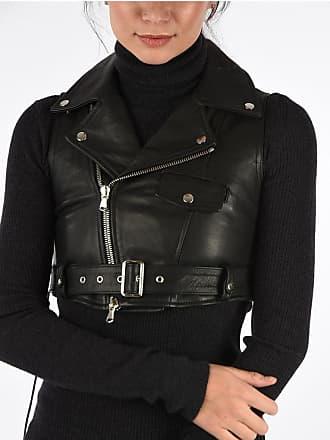 Diesel BLACK GOLD Leather Sleeveless ZIVET Jacket size 38