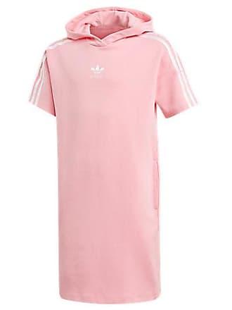 adidas Girls Originals Marble Hoodie Dress, Pink
