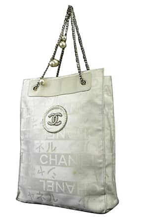 Chanel Timeless Limited Edition Pearl Tote 218990 Nylon Canvas Shoulder Bag b8647c32b5b1a