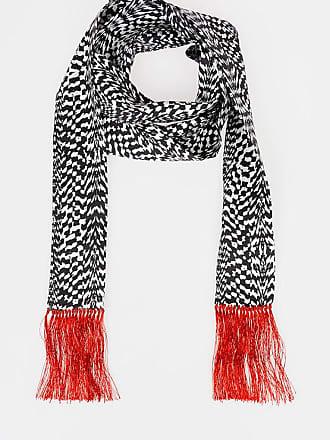 Haider Ackermann Silk Wool Scarf With Fringes size Unica