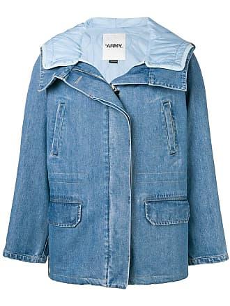 Yves Salomon Casaco jeans matelassê - Azul