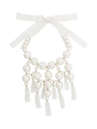 Moy Paris Maxi colar com pérolas - Branco