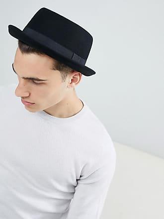 a984e7998d4ba Asos pork pie hat in black felt
