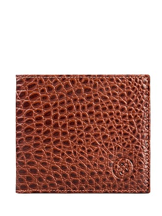Maxwell Scott Maxwell Scott - Luxury Slim Tan Leather Wallet in Mock Croc
