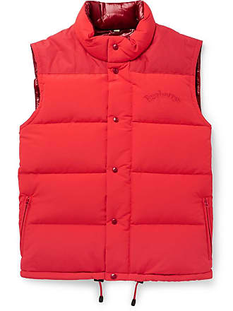 38dc2242c6f Burberry Slim-fit Logo-embroidered Quilted Nylon Down Gilet - Red