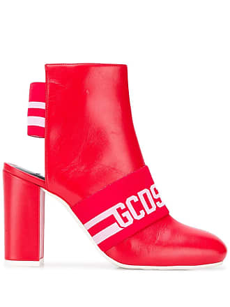 GCDS cut out ankle boots - Red