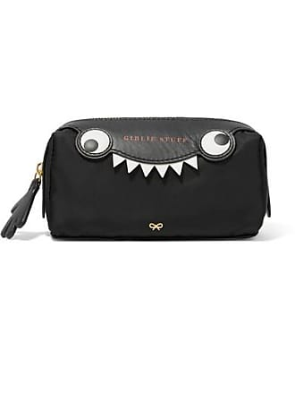 c967f8634dcb Anya Hindmarch Monster Printed Leather-trimmed Shell Cosmetics Case - Black