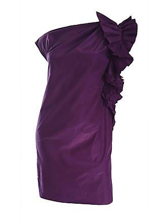 753bbafc9fa97e Gianfranco Ferre Vintage Gianfranco Ferre Rich Purple Silk Origami One  Shoulder Toga Dress