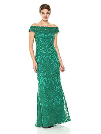 d911061d Tadashi Shoji Womens Illusion Neck LACE Gown, deep Emerald, 2. USD $548.00
