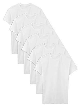 Fruit Of The Loom Mens Stay Tucked Crew T-Shirt, White - Tall Sizes, XXX-Large