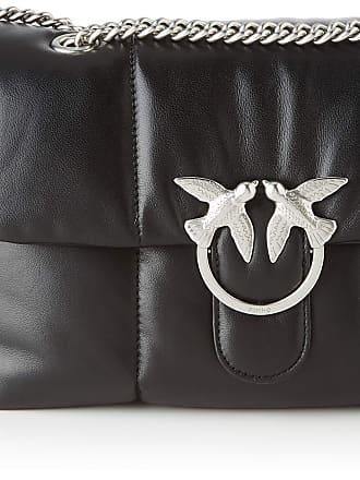 Pinko Love Puff Quilting Cl Nappa Womens Cross-Body Bag, Black (Azzurro Cic. India), 9x17.4x26 Centimeters (W x H x L)