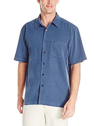 Quiksilver Waterman Mens Clear Days Shirt, Night, Small