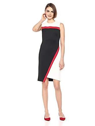 f0098dbfcbc Tommy Hilfiger Womens Colorblock Assymetrical Heavy Weight Scuba Dress