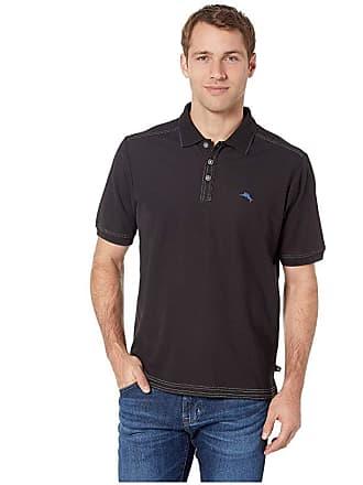 28cac41a Tommy Bahama Emfielder 2.0 Polo (Black) Mens Clothing