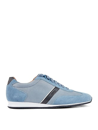 BOSS Low-profile hybrid sneakers with contrast leather stripe