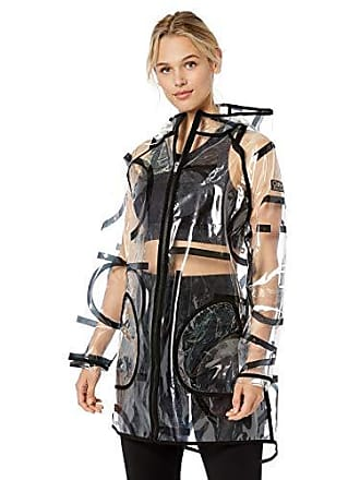 c3c153897338 Calvin Klein Performance Womens Transparent Raincoat, Scatter Combo, Small