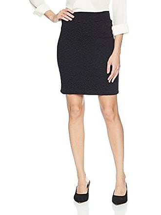 Only Hearts Womens Stretch Matelasse Knee Length Pencil Skirt, Black, Small