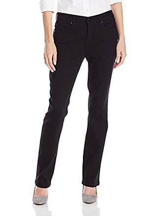 Jones New York Womens Curvy Straight-Leg Jean, Black Rinse Wash, 14