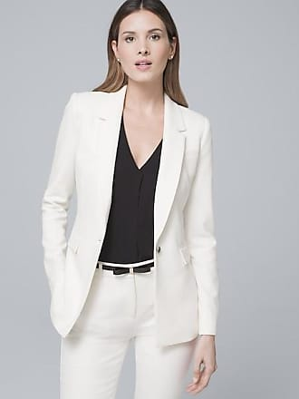 White House Black Market Womens Luxe Suiting Jacket by White House Black Market, Ecru, Size 14