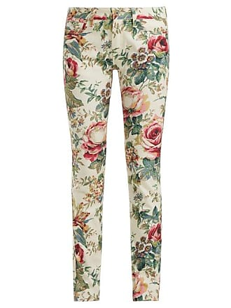 5bfca4f51defa Junya Watanabe Floral Print Slim Fit Jeans - Womens - White Multi