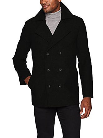 3c642f1285 Hart Schaffner Marx Mens Captain Double Breasted Peacoat, Black, XL