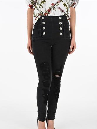 Balmain high-rise waist distressed jeans Größe 42