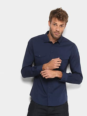 Colcci Camisa Colcci Slim Manga Longa 2 Bolsos Masculina - Masculino ced9257d30a