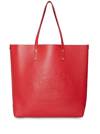 Burberry Large Embossed Crest Leather Tote - Red 97132a9062490