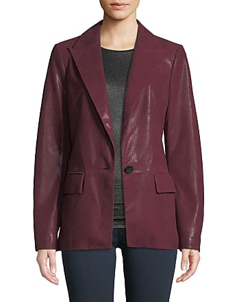 Neiman Marcus Soft Suede One-Button Blazer