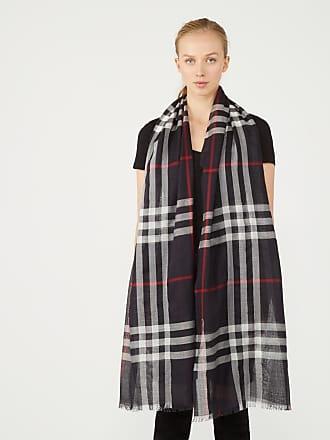 Burberry Echarpe femme légère en laine et soie à motif check ... 6f2c0aaf041