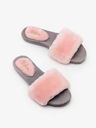 Boden Shearling Slides Chalky Pink Women Boden