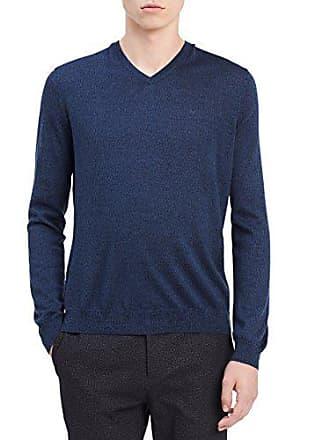 a2ca83e05557 Calvin Klein Mens Merino Solid V-Neck Sweater