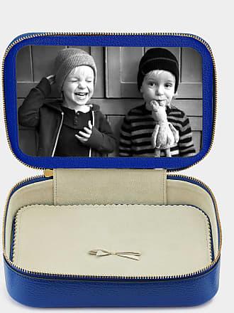 Anya Hindmarch Bespoke Large Keepsake Box Capra in Electric Blue