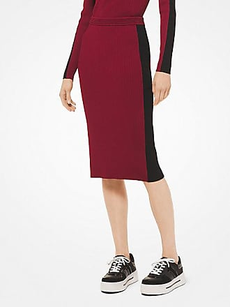 Michael Kors Contrast Stripe Stretch-Viscose Pencil Skirt