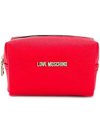 Love Moschino saffiano pouch - Vermelho