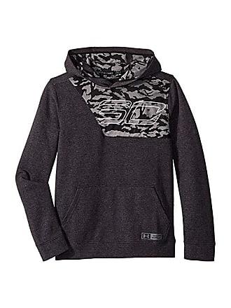 04d234fefad1 Under Armour SC30 Fleece Hoodie (Big Kids) (Black Graphite) Boys Sweatshirt