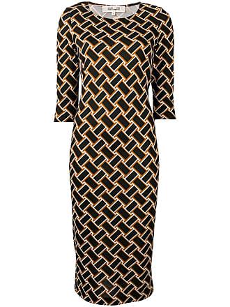 Diane Von Fürstenberg Vintage Weave print midi dress - Preto