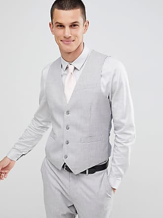 Gianni Feraud Wedding Slim Fit Suit vest - Gray