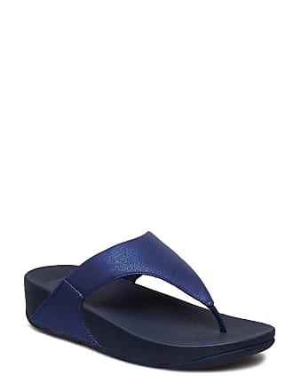 3f119e563b7f FitFlop Lulu Shimmer Toe Post Platta Sandaler Blå FITFLOP