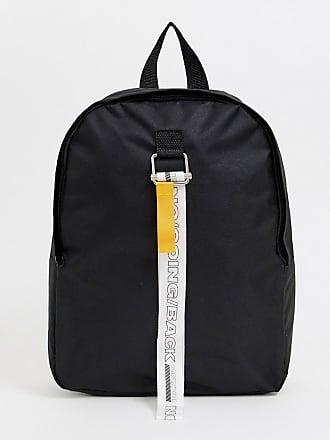 3d0d09df07 Asos Sac à dos avec bretelles à inscription - Noir - Noir