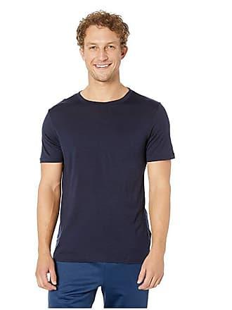 Icebreaker Tech Lite Short Sleeve Crewe (Midnight Navy) Mens Clothing