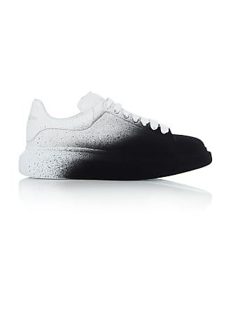Alexander McQueen Two-Tone Leather Low-Top Sneakers