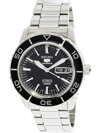 Seiko Mens 5 Automatic SNZH55K Silver Stainless-Steel Self Wind Fashion Watch