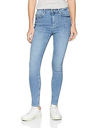 1a16e2a1cc Pieces Pcdelly Hw Skn CRP Slit Lb107-ba Jean Skinny, Bleu Light Blue Denim